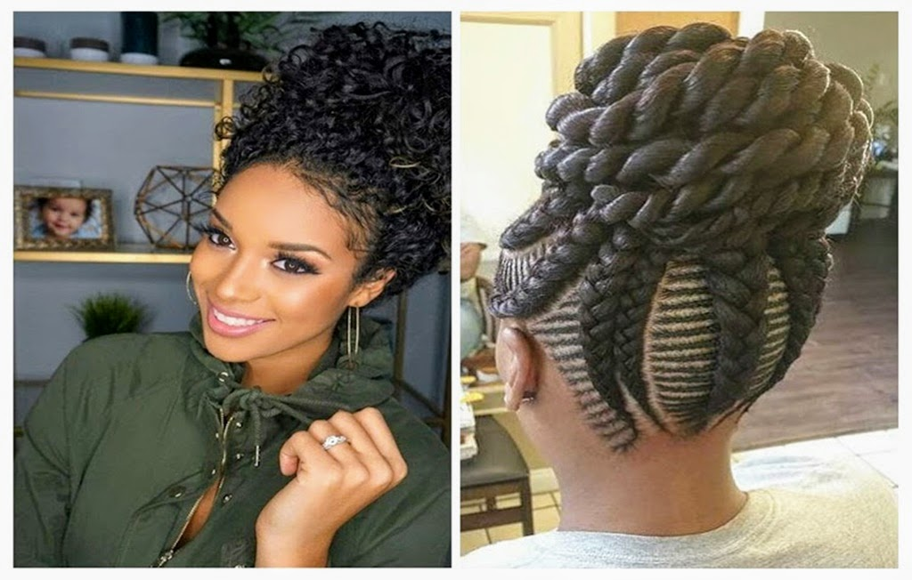 Updo Hairstyles With Bangs For Black Women 25