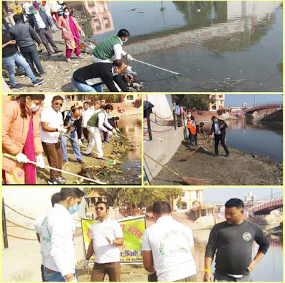 शाहजहांपुर में हनुमत धाम पर चलाया गया विशेष सफाई अभियान