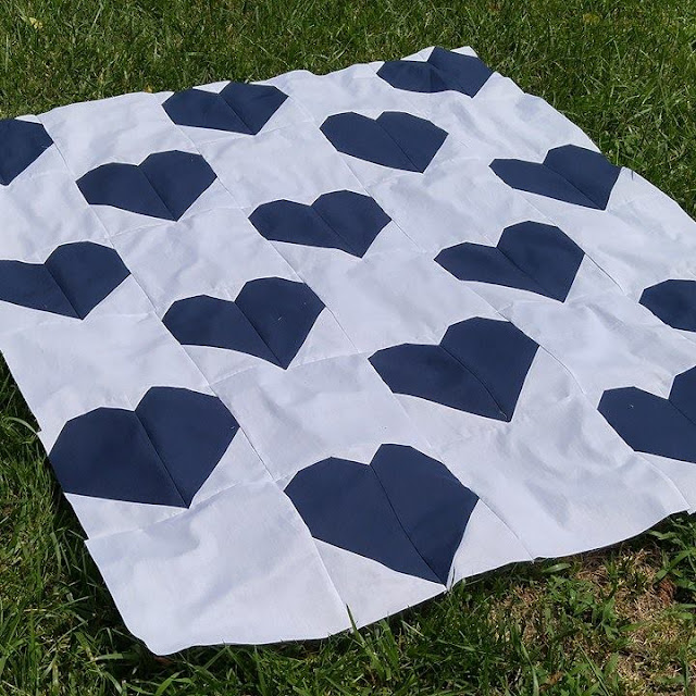 Heart quilt for Dallas