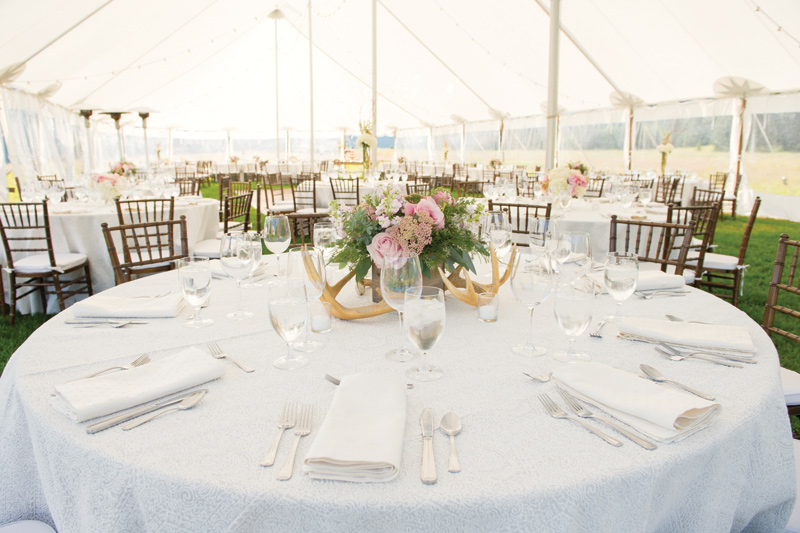 Tented Montana Wedding / Centerpiece by Katalin Green / Amelia Anne Photography