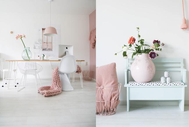 Inspiración rosa empolvado para decorar tu hogar- Miss Jettle