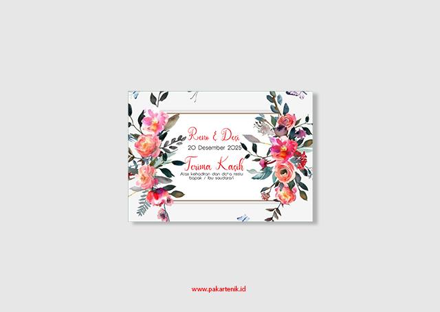 Download 3 Desain Kartu Ucapan Pernikahan Langsung Catak