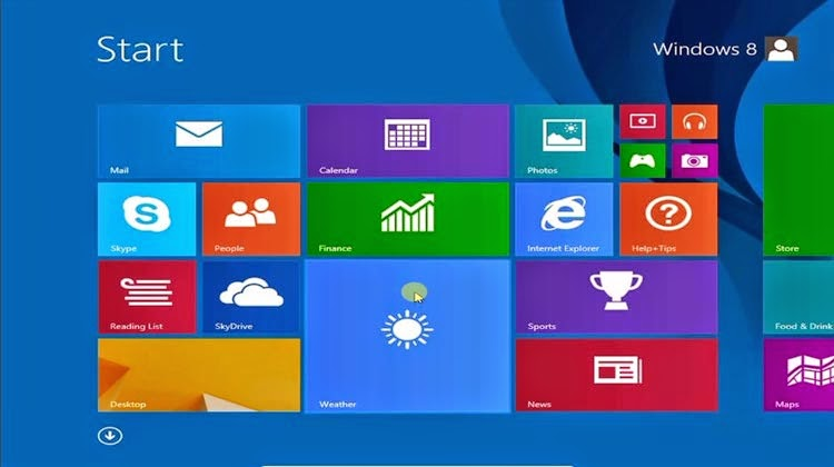 start cara instal windows 8