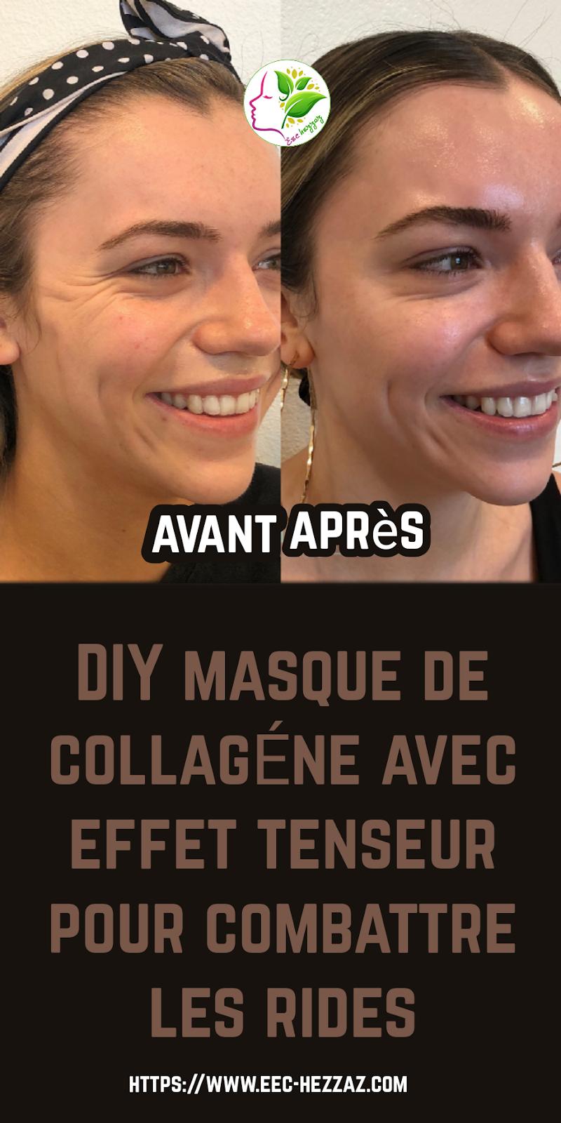 DIY masque de collagène avec effet tenseur pour combattre les rides