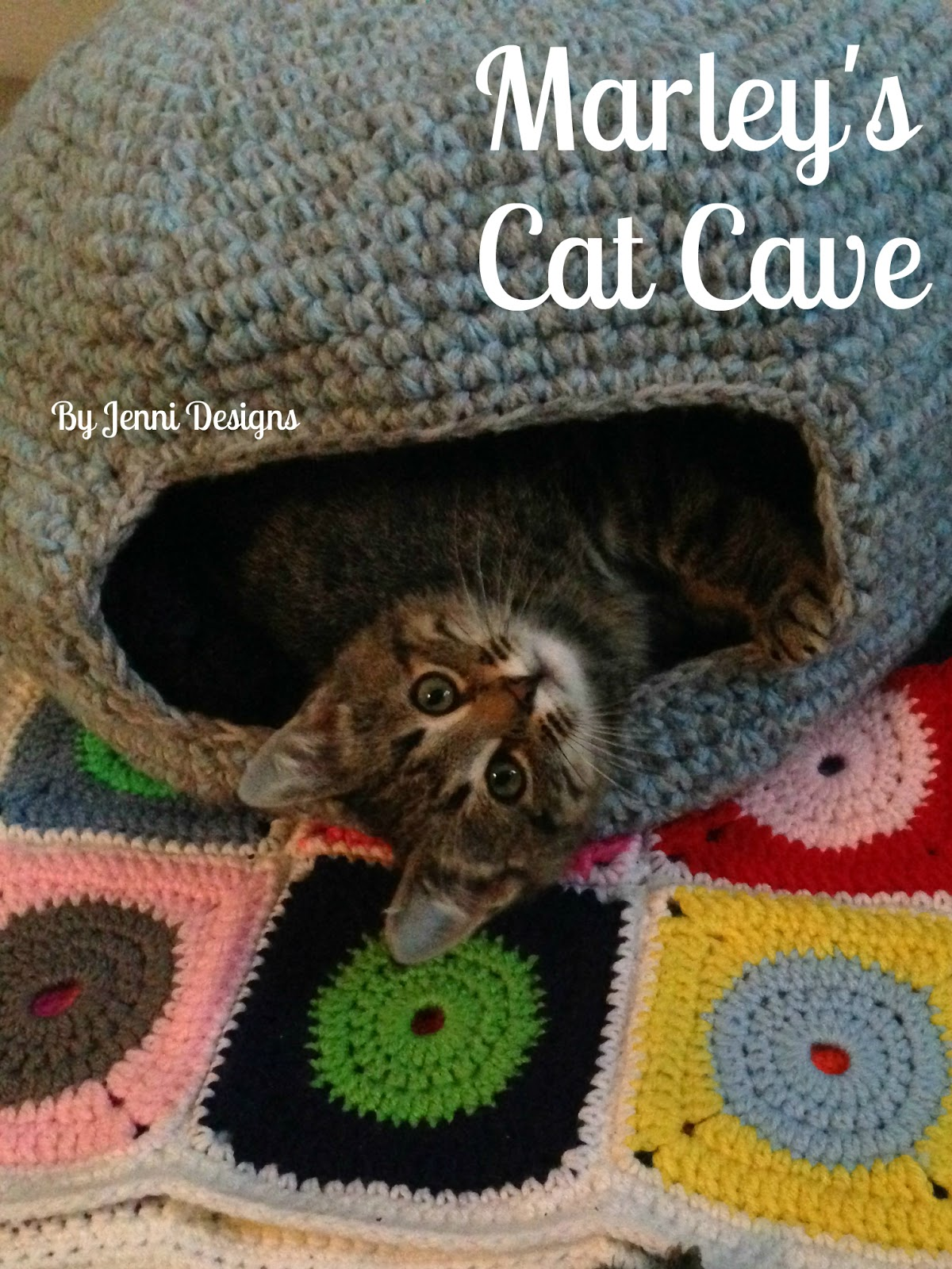 By Jenni Designs: Free Crochet Pattern: Marley\'s Cat Cave (or Bed)