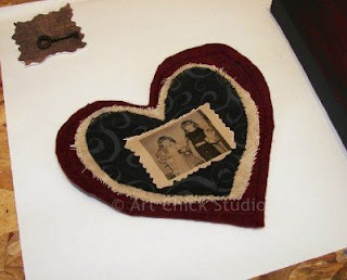 Valentine Birthday Canvas Heart