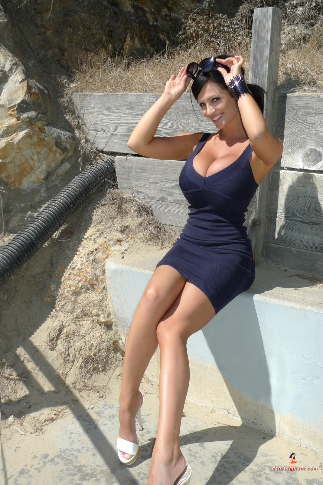 denise milani in a dress - photo #20