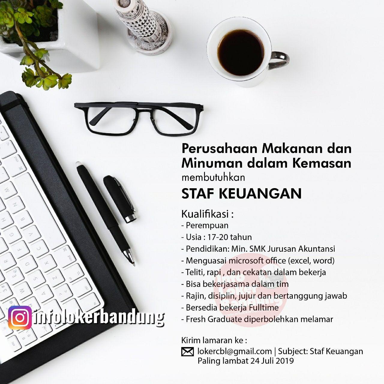 Lowongan Kerja Staf Keuangan Addictea Bandung Juli 2019