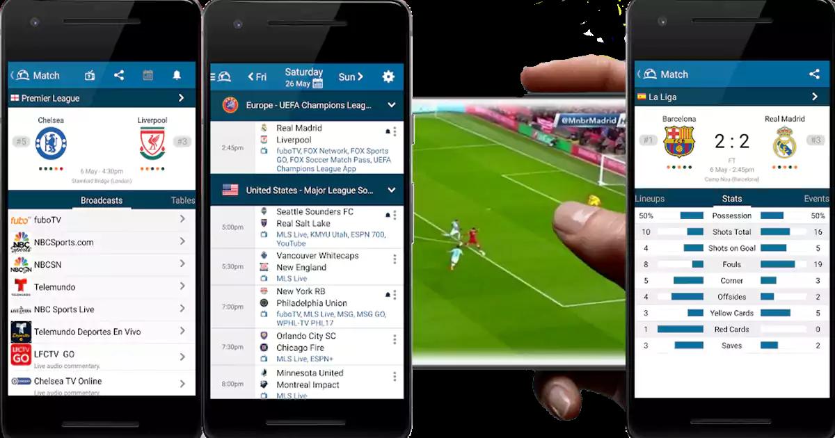 أفضل التطبيقات لمشاهدة المباريات بث مباشرة أندرويد وآيفون