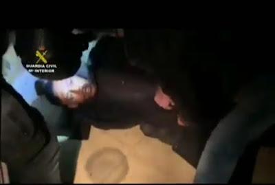 """Ver vídeo de la detención del """" Melillero"""" por la guardia civil"""