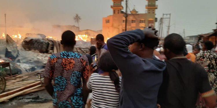 Fire destroys multi million naira properties in Mushin