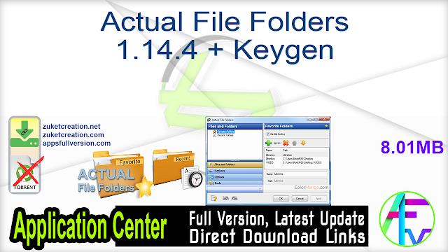 Actual File Folders 1.14.4 + Keygen