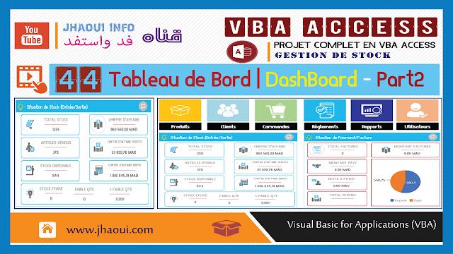 #44 : VBA Access -Tableau De Bord | DashBoard #2