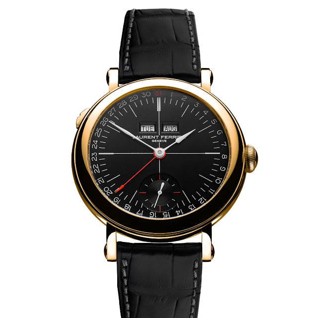 Laurent Ferrier - Galet Annual Calendar School Piece Opaline Black
