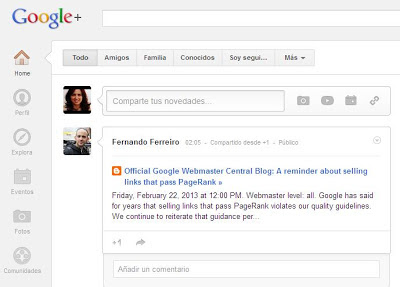 perfil de google plus