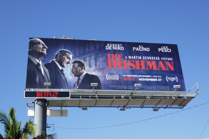 The Irishman movie billboard