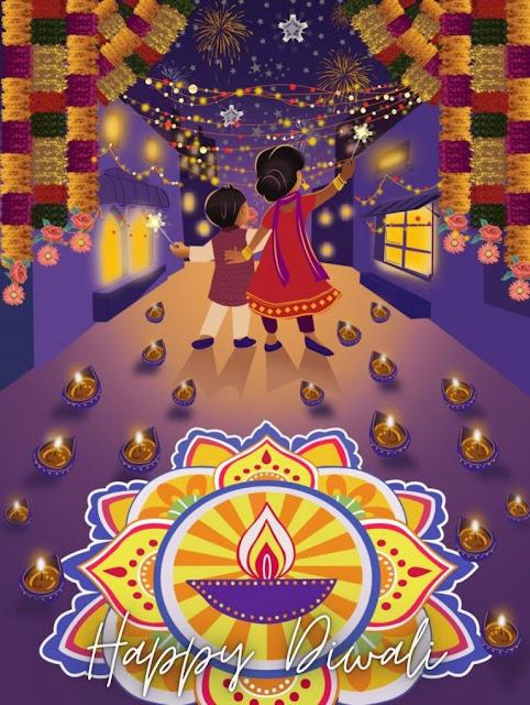 diwali cards ideas for kids'