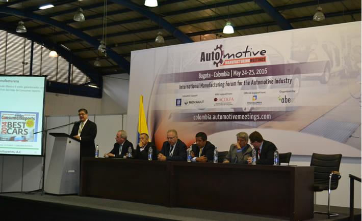 Con la participación de 130 de 17 países, Arrancó la primera edición de Automotive Manufacturing Meetings en Bogotá Colombia. (Foto: VI)