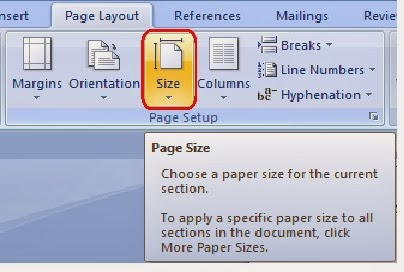gambar ikon Paper size