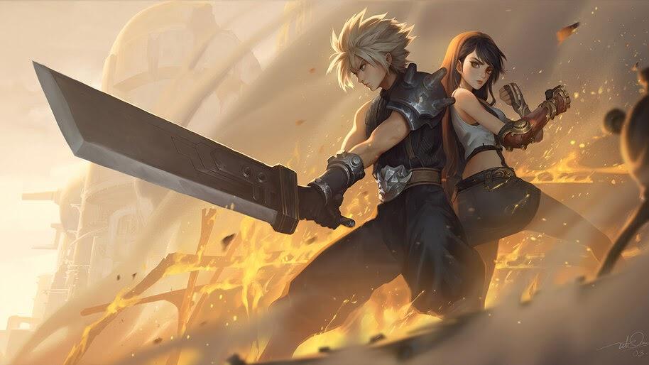 Cloud Strife, Sword, Tifa Lockhart, FF7 Remake, 4K, #3.2742