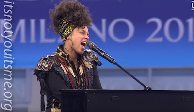 Alicia Keys Kicks Off Champions League Opening Ceremony