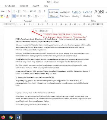 cara membuat halaman di word_edit header