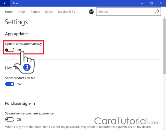Disable or Turn Off Automatic App Updates Windows Store Windows 10