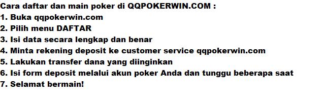 cara mendaftar poker online