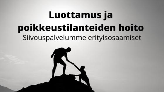 Siivouspalvelu Tampere - erityisosaamisena luottamus ja poikkeustilanteiden hoito