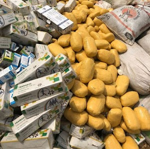 Photo News: Lagos Police Burns down large amount of Indian hemp, Tramadol, cocaine, synthetic marijuana, diazepam and so forth