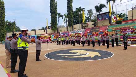 Kabag Ops Polres Tanggamus Pimpin Apel On Call Kunker Presiden