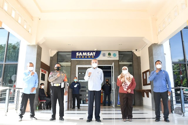 DPRD Jabar : Minta Samsat Subang Tetap Berinovasi Demi Terwujudnya Target Pencapaian di Tengah PPKM Darurat