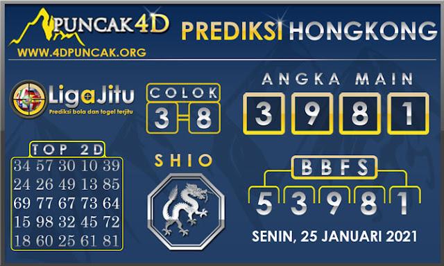 PREDIKSI TOGEL HONGKONG PUNCAK4D 25 JANUARI 2021