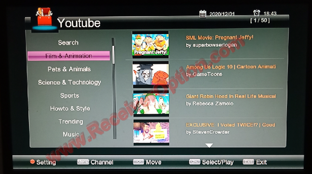 GX6605S HW203 SERIES NEW SOFTWARE WITH SAT2IP SETTING & XTRAEM IPTV OPTION