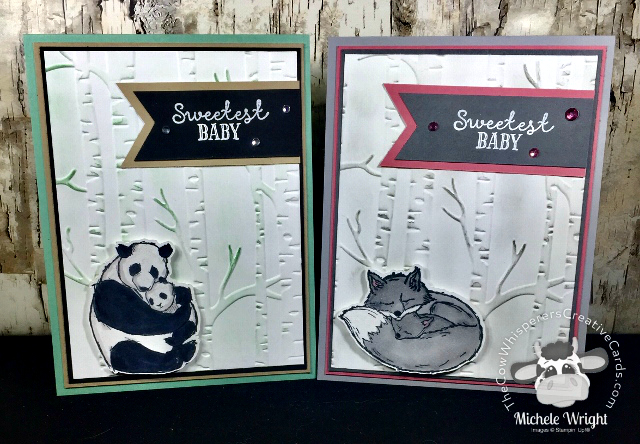 Card, Wildly Happy, Woodland Embossing Folder, Baby