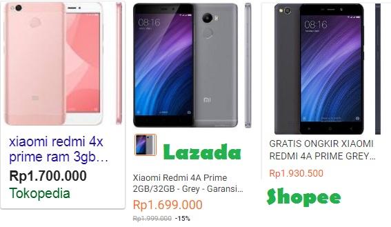 Harga Xiaomi Redmi Note 4A Prime