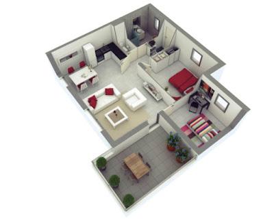 denah rumah minimalis 2 kamar