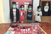 Saat Asyk Pesta Sabu, Empat Pemuda asal Sape ini Diringkus Satresnarkoba