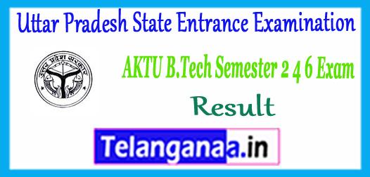 UPTU AKTU A.P.J. Abdul Kalam Technical University B.Tech Even Semester 2nd 4th 6th 8th Exam Result 2018