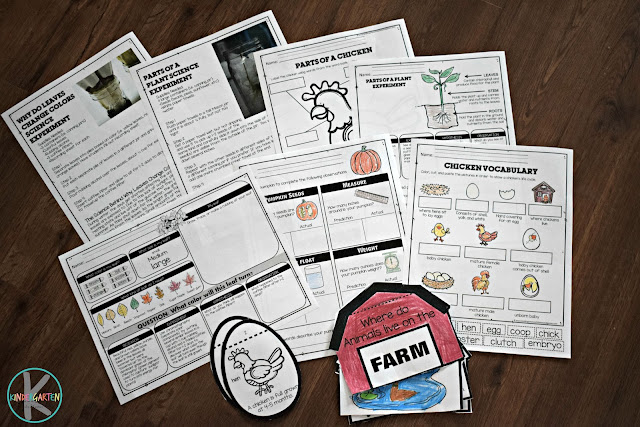 farm-science-experiments-life-cycles-worksheets-sequencing-emergent-readers-social-studies-preschool-kindergarten-first-grade