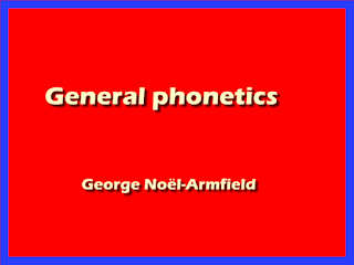 General phonetics