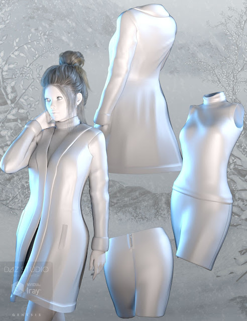 Shearling Outfit for Genesis 3 Female