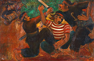 Lukisan Agus Djaya Suminta budayawan dan pelukis - berbagaireviews.com