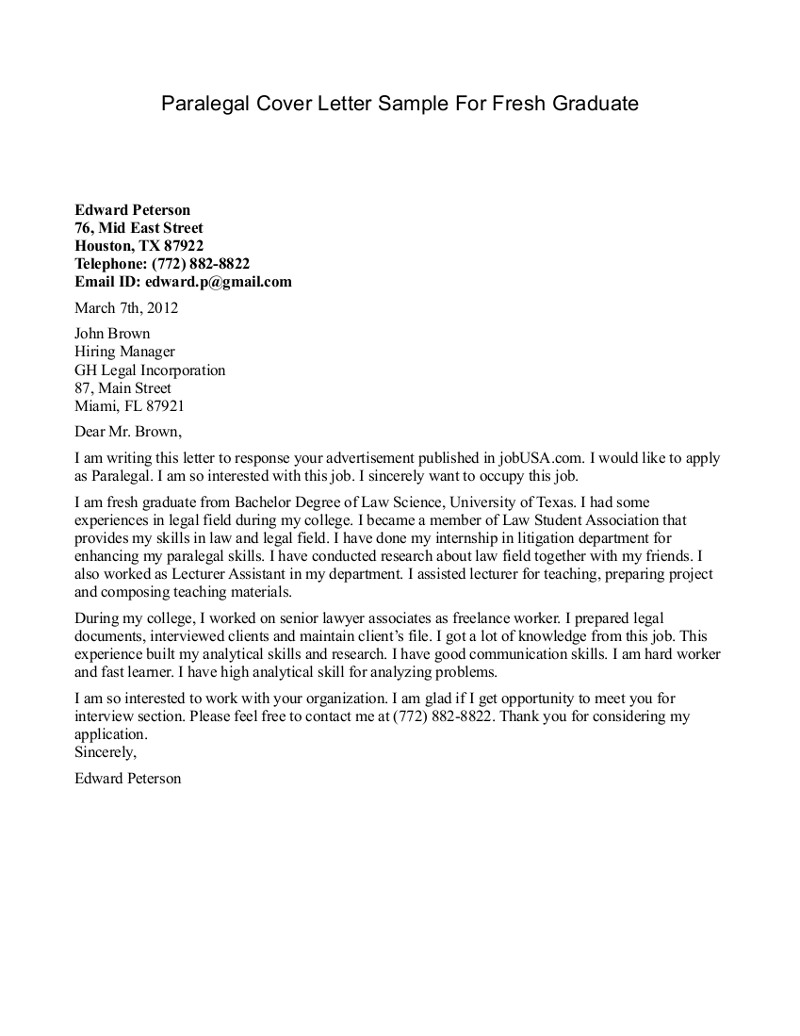 Legal Administrative Assistant Resume Cover Letter