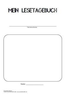 Lesetagebuch 1 Teil Grundschul Ideenbox 1