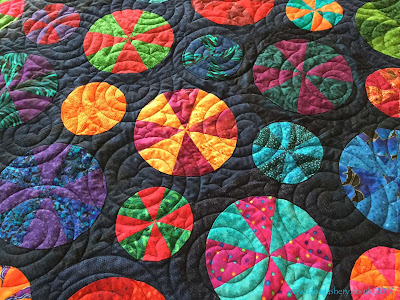 'Pies and Tarts' Quilt by Frances Meredith, designed by Sue Daley
