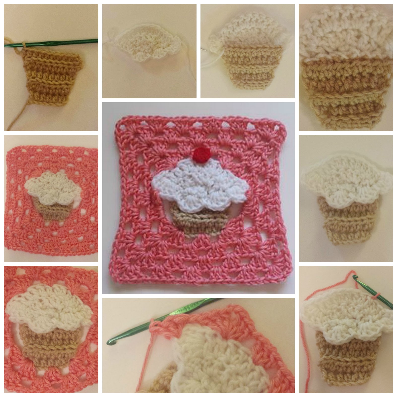 Cupcake Granny Square Crochet Pattern Work Up and Review