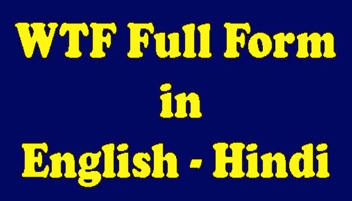 WTF Full Form Meaning in Hindi - WTF का क्या मतलब है?