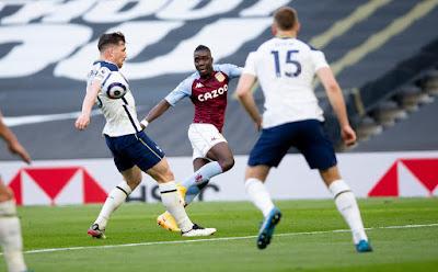 ملخص واهداف مباراة استون فيلا وتوتنهام (2-1) الدوري الانجليزي