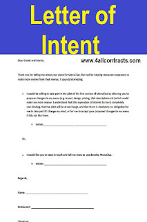 Download this example of template of Letter of Intent for free in pdf form.